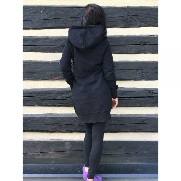 NANUK Black Long Hoodie - wall