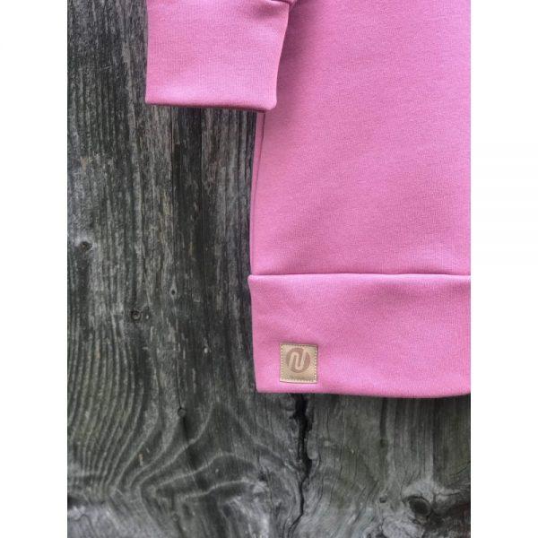 NANUK Old Pink Long Hoodie - logo