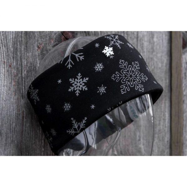 NANUK Snowflake Glitter Black - logo